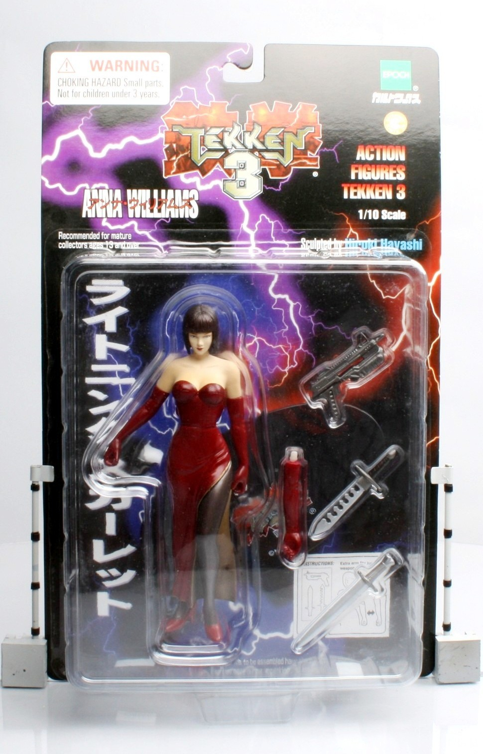 Anna Williams Lighting Scarlet 1 10th Scale Figure Tekken 3 Video Game Super Stars Release 08 Action Figure Epock Collectors Edition Series Rare Vintage 1998 Now And Then Collectibles