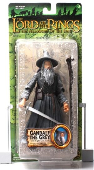 Gandalf the Grey (with light-up staff) Green Trilogy Card - Copy