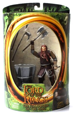 Gimli with Battle Axe Swinging (Green Oval Card) - Copy