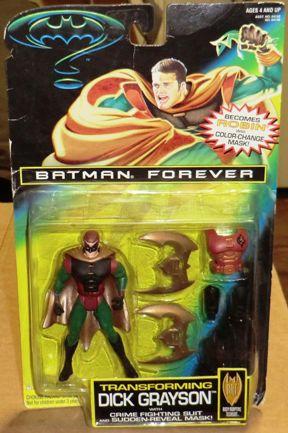 Batman Forever Transforming Dick Grayson Gold Cape