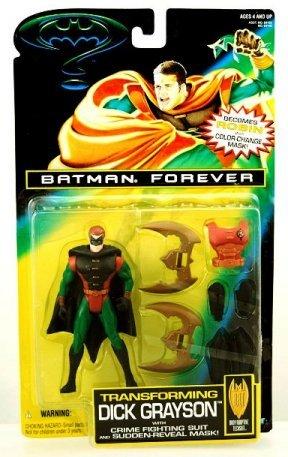 Batman Forever Transforming Dick Grayson (Masked) Black Cape - Copy