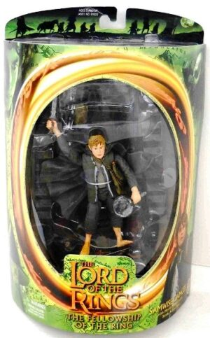 Samwise Gamgee with Moria Mines Goblin (Green Oval Card) - Copy