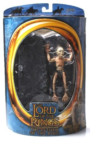 Super Poseable Gollum with Crawling Action (Blue Oval Card) - Copy