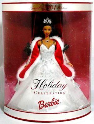 2001 Holiday Celebration Barbie Doll (AA)-3 - Copy