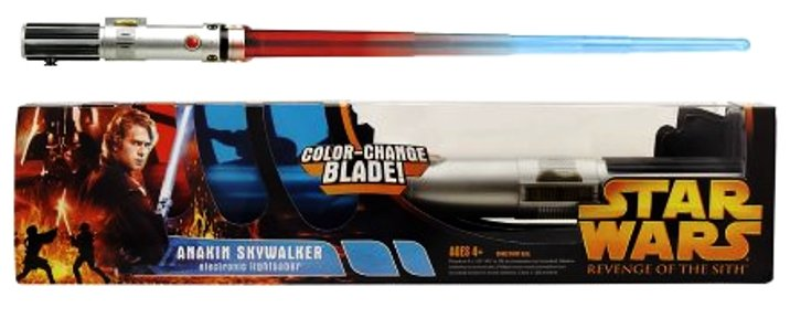 Anakin Skywalker Vader Color Change Blade Electronic Lightsaber Star Wars Revenge Of The Sith Ep Iii Vintage Series Rare Vintage 2005 Now And Then Collectibles