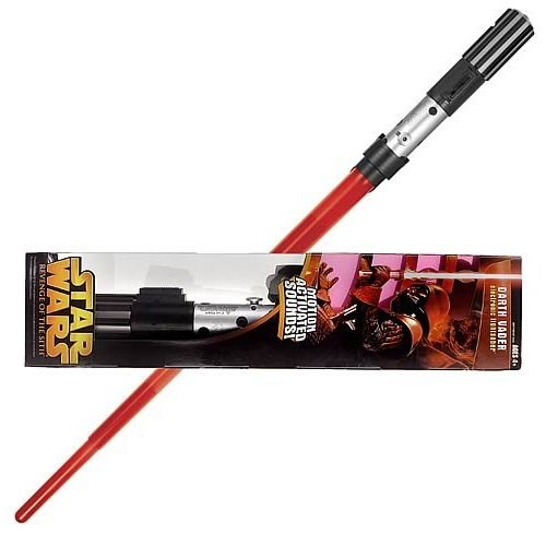 Darth Vader Motion Activated Sounds Electronic Lightsaber Star Wars Revenge Of The Sith Ep Iii Vintage Series Rare Vintage 2005 Now And Then Collectibles