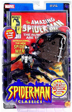 Spider-Man Black Costume (with Comic)