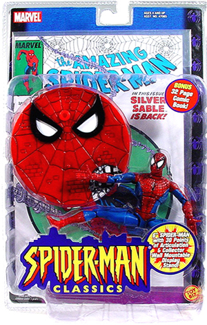 Spider-man Red and Blue Costume (with Comic)