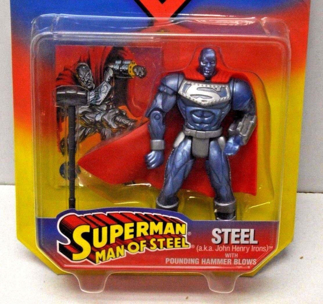 Superman Man of Steel Acier Alias John Henry Irons avec Chamade Marteau coups