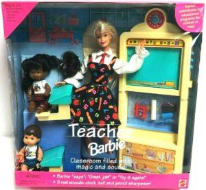 Teacher Barbie Blonde with AA and Hispanic Children (1)