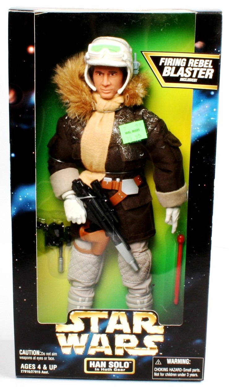 "Star Wars Kenner action Collection Han Solo in Hoth Gear 12/"" Figure-New in Box 1997"