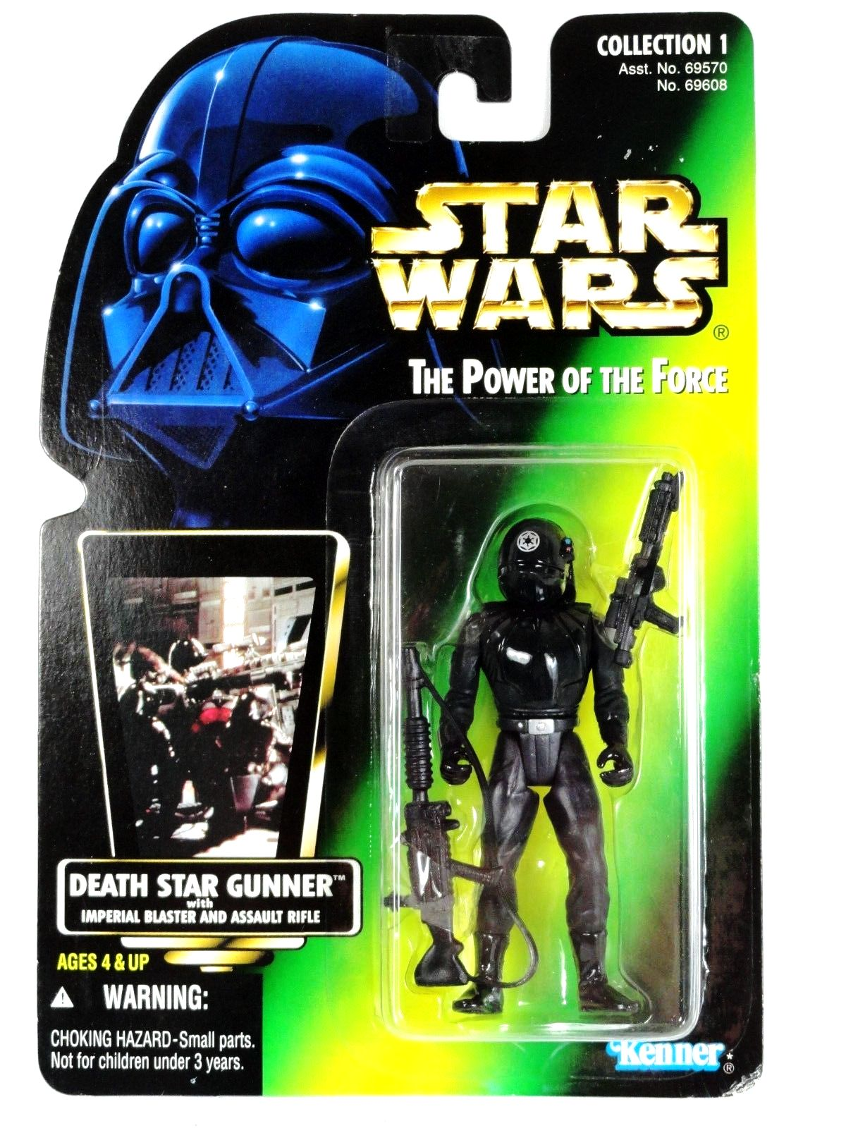 Star Wars The Power Of The Force Death Star Gunner Kenner Hologram Figure