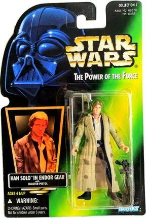 Han Solo (Endor Gear Blaster Pistol) Holo (Coll-1 #00) - Copy