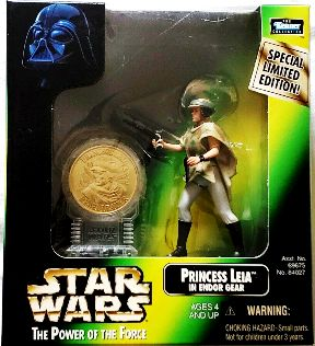 Star Wars Power of the Force Millenium Coin Edition Luke Skywalker in Endor Gear Action Figure