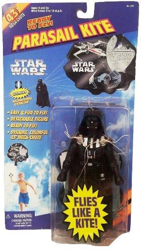 "Star Wars (Darth Vader Parasail Kite) Toy Biz (Vintage Series Collection) ""Rare-Vintage"" (1997)"