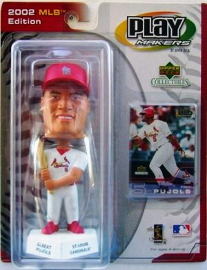 """Albert Pujols Play Maker """"St Louis Cardinals White Uniform-MLB Edition"""" (Upper Deck Play Makers Collection Series) """"Rare-Vintage"""" (2002)"""
