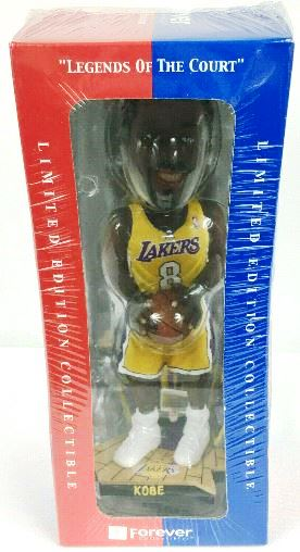 """Kobe Bryant Legends Of The Court""""NBA Limited Edition #3331 of 10,000 Handcrafted Lakers #8 Yellow Uniform"""" (Forever Collectibles Collection Series) """"Rare-Vintage"""" (2003)"""