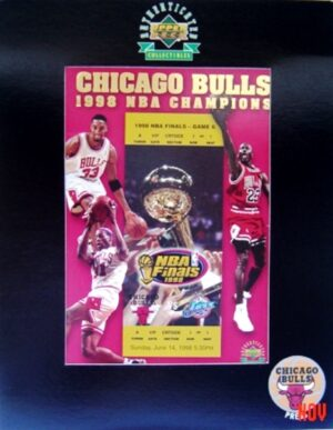 """Michael Jordan Interview Talking Card""""Upper Deck 1998 NBA Finals Chicago Bulls 1998 NBA Champions-Limited Edition"""" (Upper Deck Authenticated Collectibles) """"Rare-Vintage"""" (1998)"""