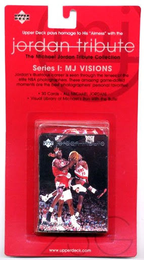 """Michael Jordan """"Upper Deck Jordan Tribute MJ VISIONS Series-I Limited Edition 30-Spectacular Premium Cards Set Red Pack"""" (Upper Deck Authenticated Collectibles) """"Rare-Vintage"""" (1997)"""