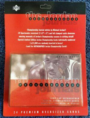 "Michael Jordan ""Upper Deck The Jordan Championship Journals Limited Edition 24 Spectacular Premium Oversize-Card Set"" (Upper Deck Authenticated Collectibles) ""Rare-Vintage"" (1997)"