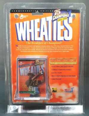 "Tiger Woods ""Athlete's Replica Signature In 24K Gold-PGA Commemorative Edition 1924-1999"" (Wheaties Collectors Edition General Mills) ""Rare-Vintage"" (1998)"