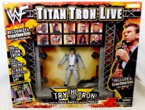 """2001 Titan Tron Live WWF Collection! Vintage WWF Titan Tron Live Stage Entrance Tron Ready w/Vince McMahon Action Figure"""") Jakks Pacific""""Rare-Vintage"""" (2001)"""