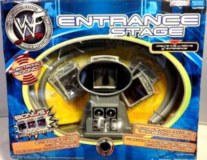 "2001 Entrance Stage WWF Collection! Vintage WWF Musical Entrance Stage Tron Ready w/Bonus 6-Video Cards"") Jakks Pacific""Rare-Vintage"" (2001)"