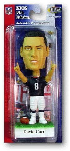 """David Carr 2002 """"NFL Edition Houston Texans #8 Blue/White Uniform-Green Base"""" (Upper Deck Play Makers Collection Series) """"Rare-Vintage"""" (2002)"""