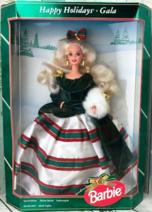 1994 Happy Holidays Barbie (Blonde) Gala-00-0 - Copy