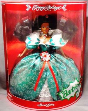1995 Happy Holidays Barbie Doll (African American) (000) - Copy