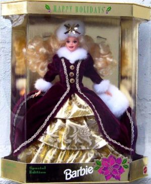 1996 Happy Holidays Barbie Blonde (1)
