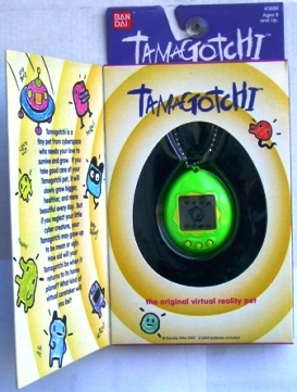 "TAMAGOTCHI (""Green With Yellow Accents"