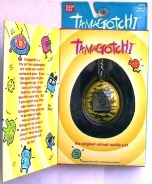 Tamagotchi (Orig) Yellow-Black 1996