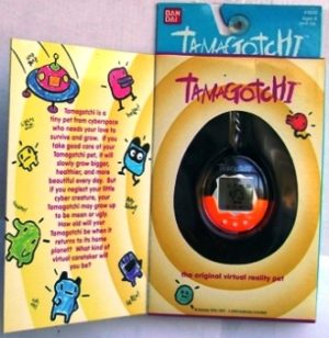Tamagotchi-Plus (Original) Black-Orange 1996 - Copy