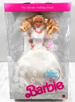 "Wedding Fantasy Barbie (""The Ultimate Wedding Dream Barbie 1989 Edition-Mattel"") ""Rare-Vintage"" (1989)"