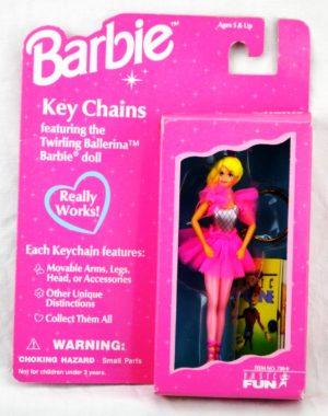 1996 KeyChain -Twriling Ballerina Barbie