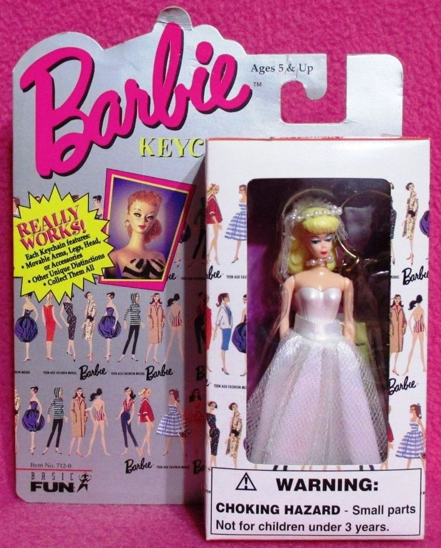 Barbie doll Barbie Pink Mattel 90/'s toys Mattel toys 1990 Barbie keychain Vintage Barbie key chain