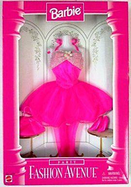 Barbie Fashion Avenue Pink Party Dress