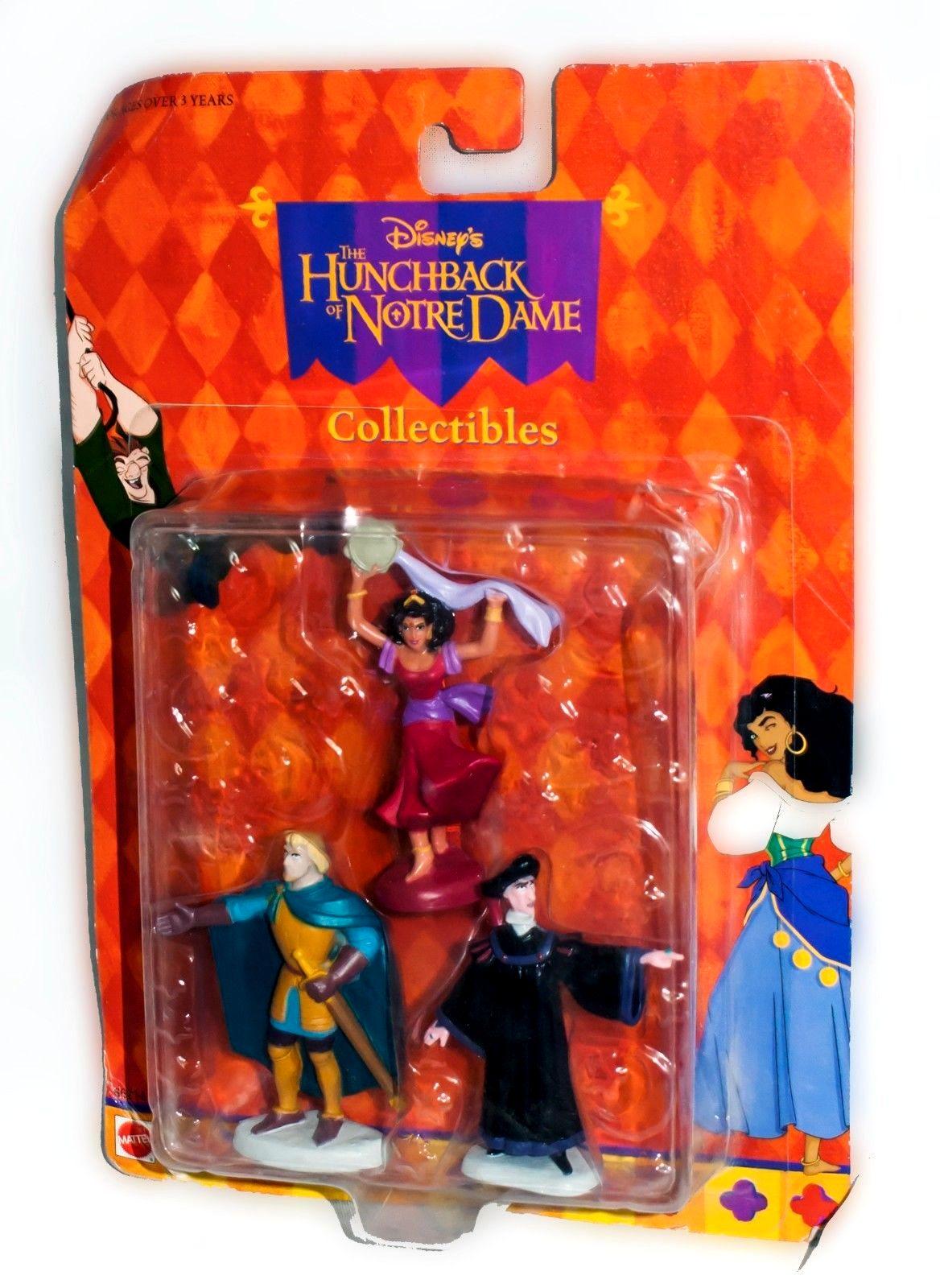 Hunchback O Notre Dame Disney Figure Toy Playset Bundle Esmeralda Phoebus Frollo