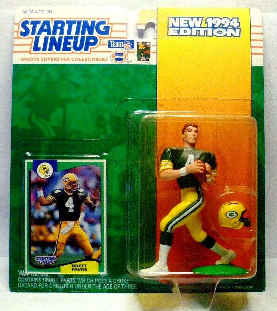 1999:SLU Starting Lineup Brett Favre Figure MOC Green Bay Packers Kenner NFL New