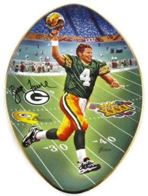 Brett Favre Collector Plate (Back To Titletown)-0 - Copy