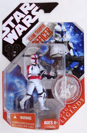 Red STAR WARS 30th Anniversary Saga Legends VARIANT Clone Trooper Officer