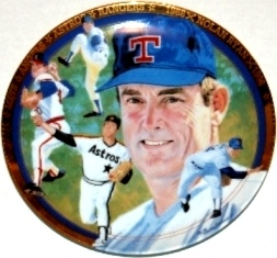 Nolan Ryan Collector Plate The Strikeout Express