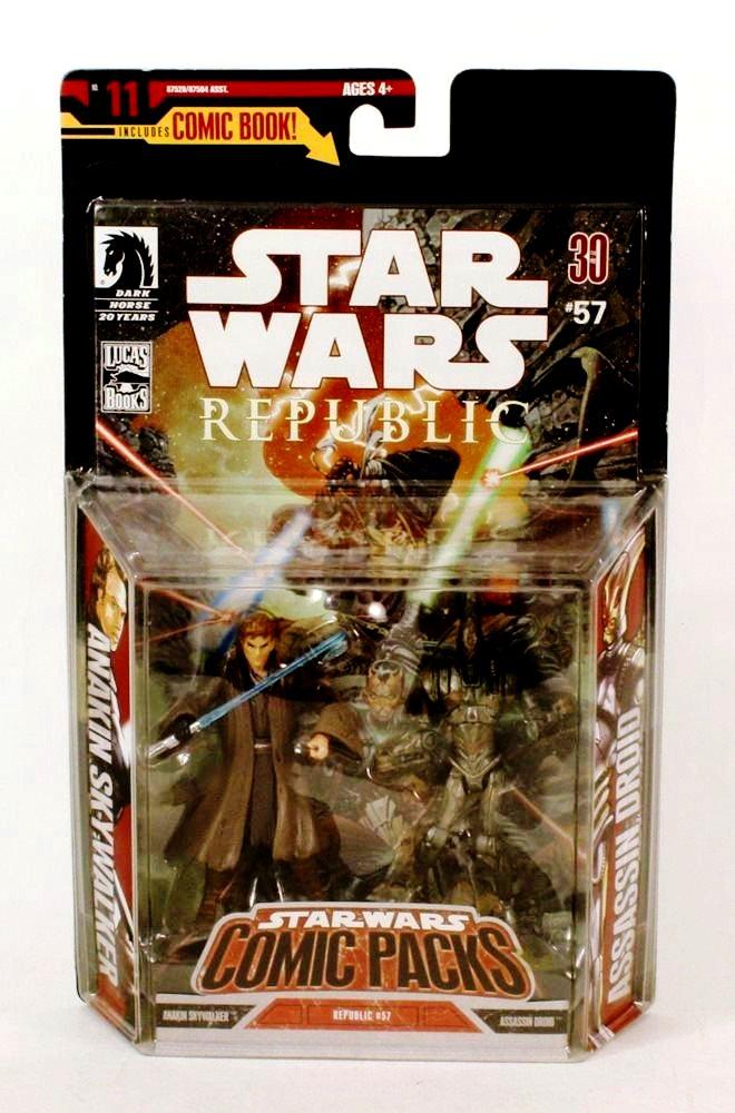 Comic Packs 2009 Anakin Skywalker /& ASSASSIN DROID Action Figure 2-Pack #57