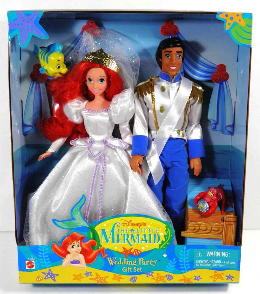The Little Mermaid Disney Wedding Party Gift Set Disney S The Little Mermaid Animated Movie Series 1 Rare Vintage 1997 Now And Then Collectibles