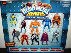 "Marvel (""Heavy Metal Heroes Poseable Die Cast 10 Pack"") ""Rare-Vintge"" (1996)"