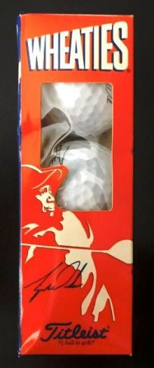 """Tiger Woods """"Masters PGA Wheatie Special Commemorative Edition 3pc Golf Balls Box Set w/Autographic Signature"""" (Wheaties/Titleist Mail-In Edition) """"Rare-Vintage"""" (1996)"""
