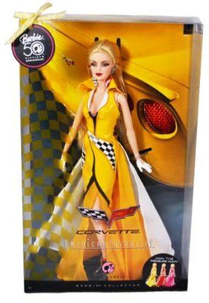 "Corvette Treasure Hunt Barbie (50th Anniversary American Favorites Collection Collector Edition) ""Rare-Vintage"" (2009)"