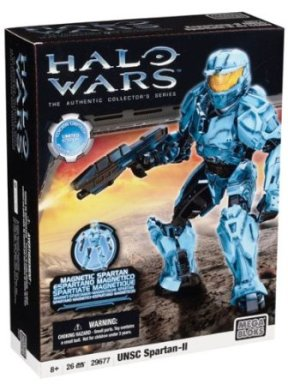 "Halo Wars UNSC Spartan-II (Mega Bloks ""Retired-Authentic Collector's Series"") ""Rare-Vintage"" (2010)"