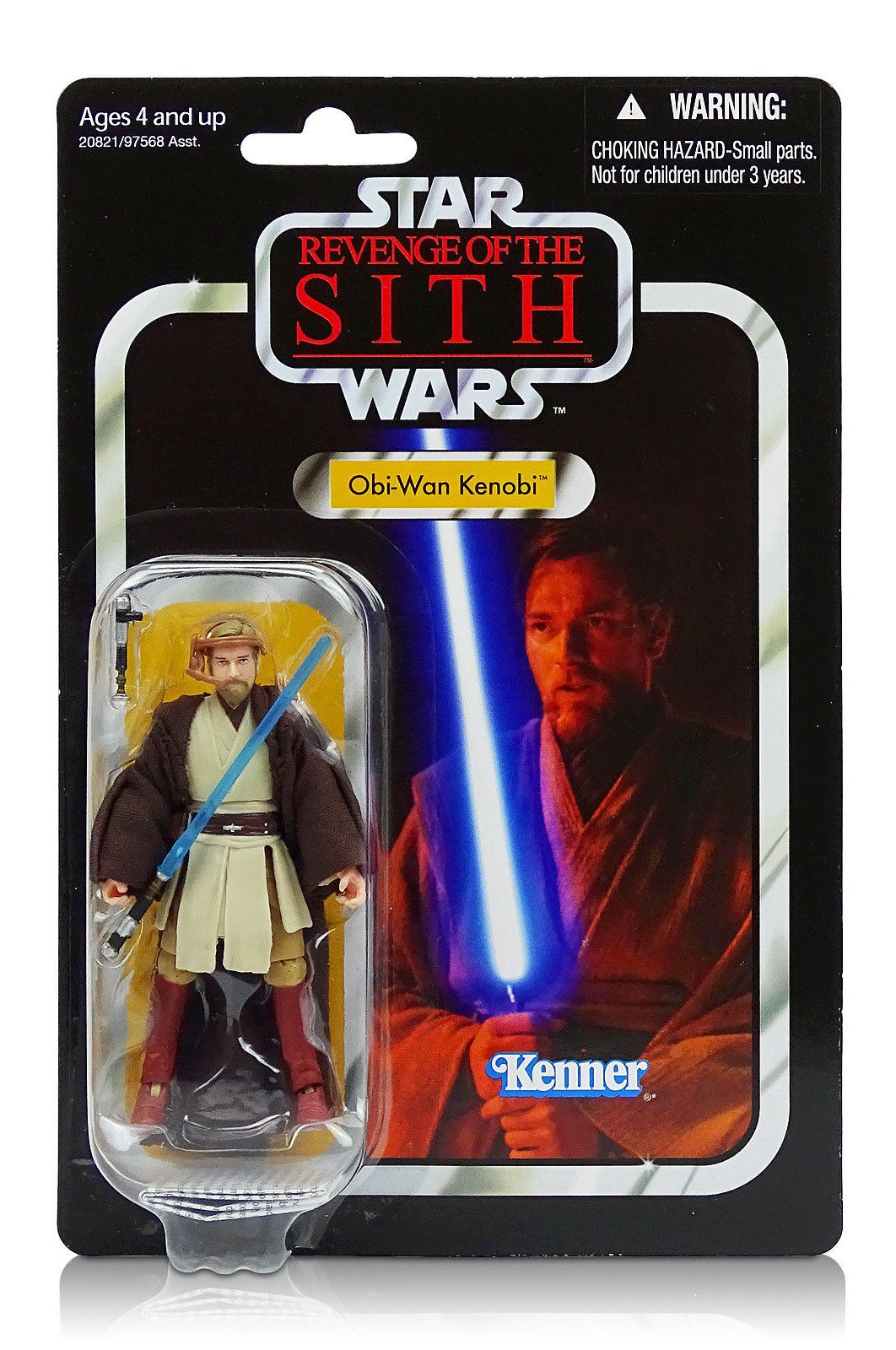 Obi Wan Kenobi Silver Foil Star Wars The Vintage Collection Revenge Of The Sith Series Vc16 Rare Vintage 2010 Now And Then Collectibles